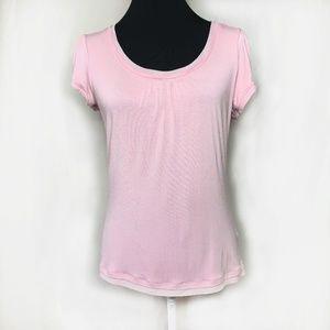 Sarah Spencer Petite Light Pink Short Sleeve Top
